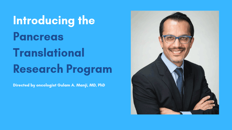 Introducing the Pancreas Translational Research Program Directed by oncologist Gulam A. Manji, MD, PhD