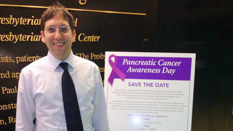 Dr. Paul Oberstein at Pancreatic Cancer Awareness Day on November 9, 2013