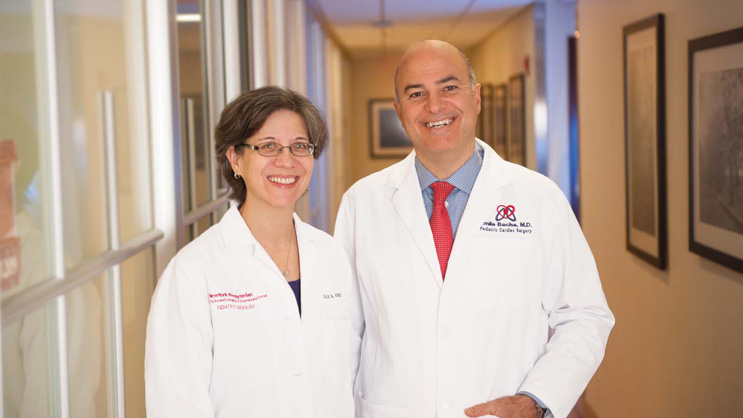 Pediatric cardiovascular surgeon Emile Bacha, MD and pediatric cardiologist Julie A. Vincent, MD, Directors of the Congenital Heart Center.