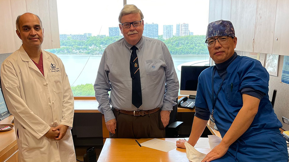 Dr. Kiran and Dr. Shen welcome Dr. Church to the Columbia team