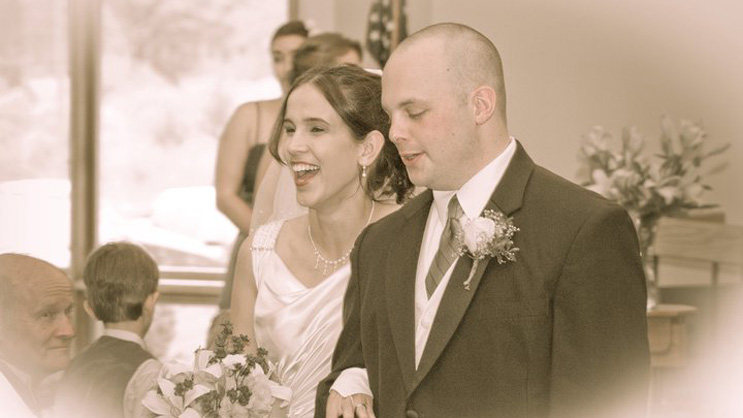 Sarah and Chris Costa at their wedding, May 14, 2011