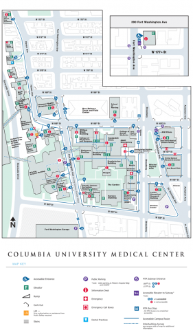 Columbia University Medical Center / NewYork-Presbyterian Map