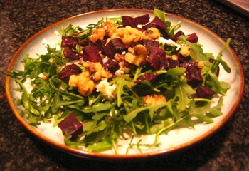 Beet, Arugula, and Goat Cheese Salad