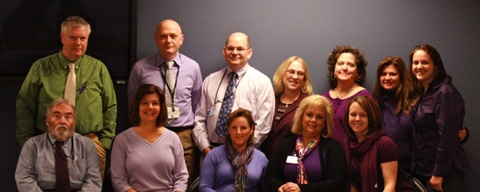 The AMC/MPAS class of 2015 shows support and spreads awareness for Pancreatic Cancer.