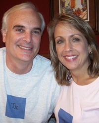 Scott Perkins and Liz Macchio in November 2009, four months after transplant surgery.