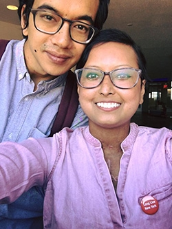 Prasha Tuladhar and Her Husband