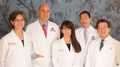 Dr. Vincent, Dr. Bacha, Dr. Berman Rosenzweig, Dr. Chai, and Dr. Quaegebeur (from left)