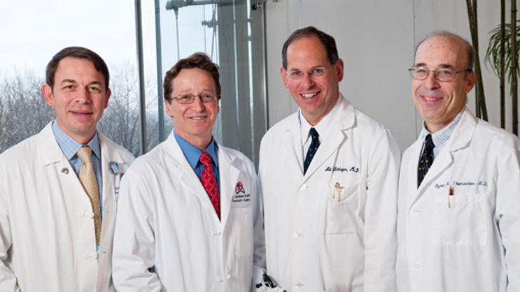 From left to right: Selim M. Arcasoy, MD, FCCP, FACP, Joshua R. Sonett, MD, Neil Schluger, MD, Byron Thomashow, MD.
